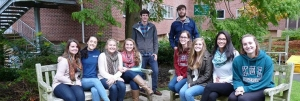 group of study abroad students at Keele University in England